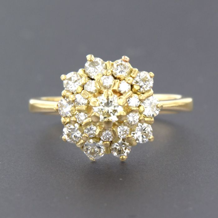 18 K Ouro - Anel - 0.85 ct Diamante