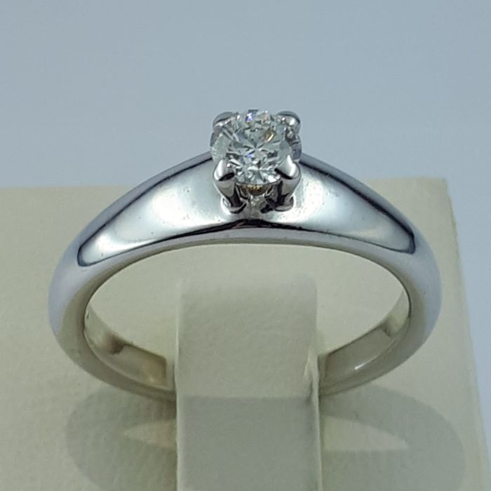 Damiani - 18 kt Gold - Solitiere Ring - 0.35 ct Diamant