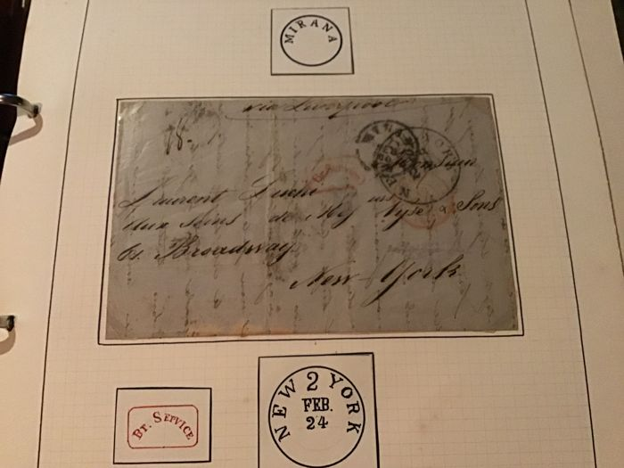 United Nations - New York - Old letter New York via Liverpool 1824
