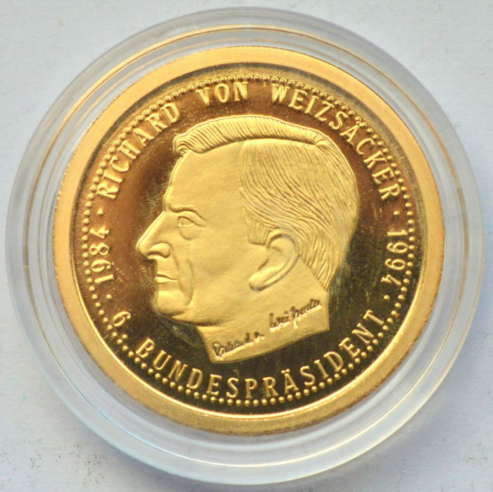 Germany Memorial Token Richard Von Weizsacker 1994 Certificate