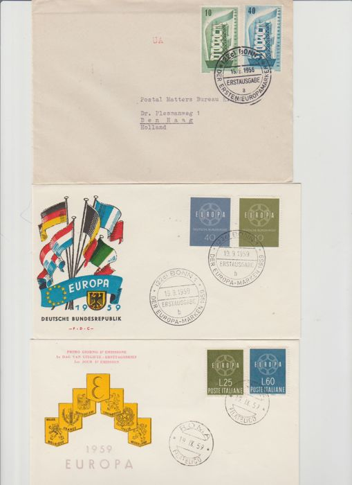 Europe 1946/1969 - FDCs and postal items