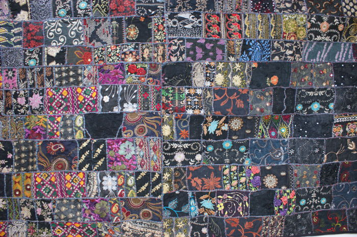 Tapestry Patchwork Black (1) - Art Deco - Cotton - Second half 20th century