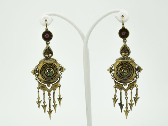 Exclusive Vintage 14 kt gold earrings from the early  20th century