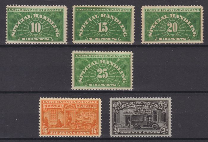 United States of America 1925/1929 - Parcel Post + Special Delivery - Unificato 13/16 - E13/E14