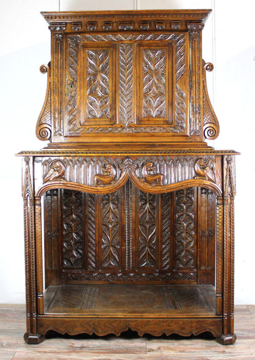 Renaissance style Credenza - Oak - Second half 19th century