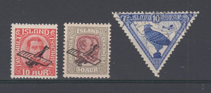 Iceland 1928/1930 - Air mail *.* and used - Scott C1 - C2 - C3