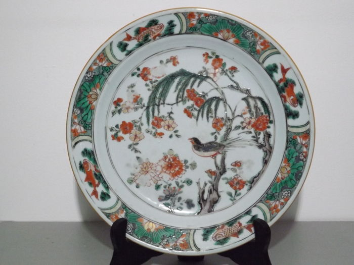 Famille verte plate - China - 18th century, Kangxi period
