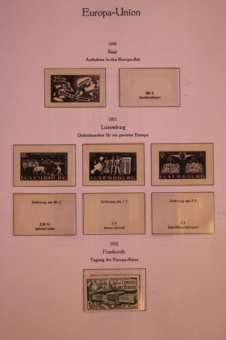 CEPT/Europa Stamps 1949/1985 - Collection forerunners in Kabe preprint album