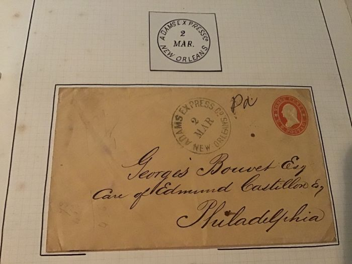 North America - Old letter Adams express