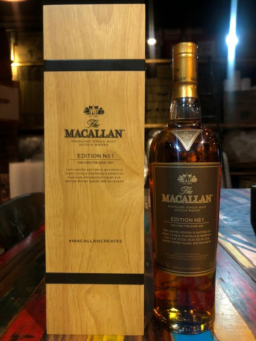 Macallan Edition No. 1 Limited Edition in Wooden Box - 700ml