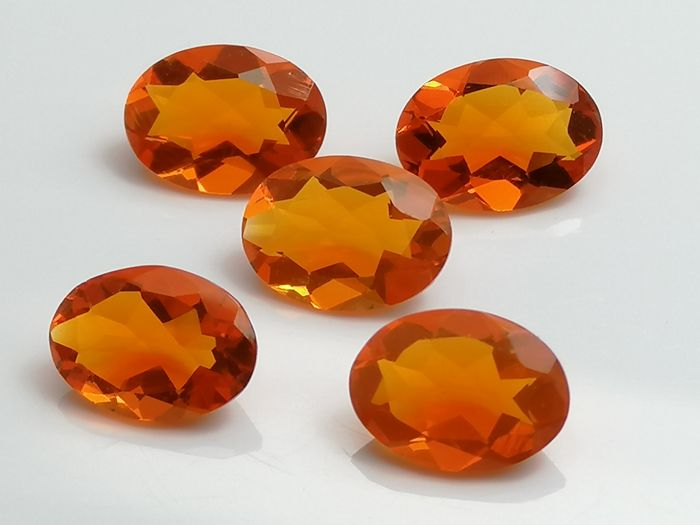 Lot of 5 Fire Opals - 2.44 ct total