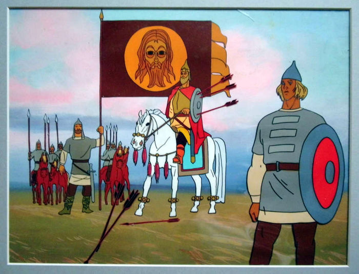 Swans of Nepryadva - Russian / Soviet Union animation cel - Other - (1980)