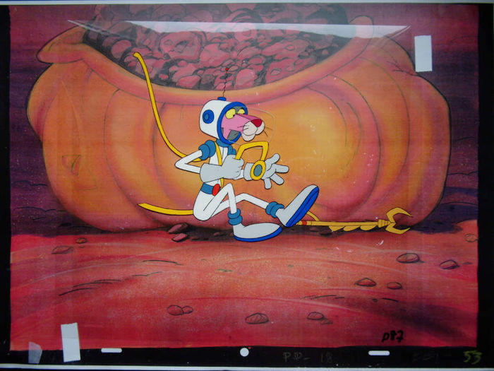 Pink Panther - animation foil + drawing - - - (1969/1980)