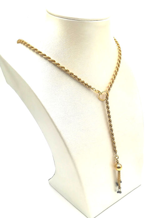 Yellow gold chain - Gold - No indication of treatments - 0.54 ct - Sapphire
