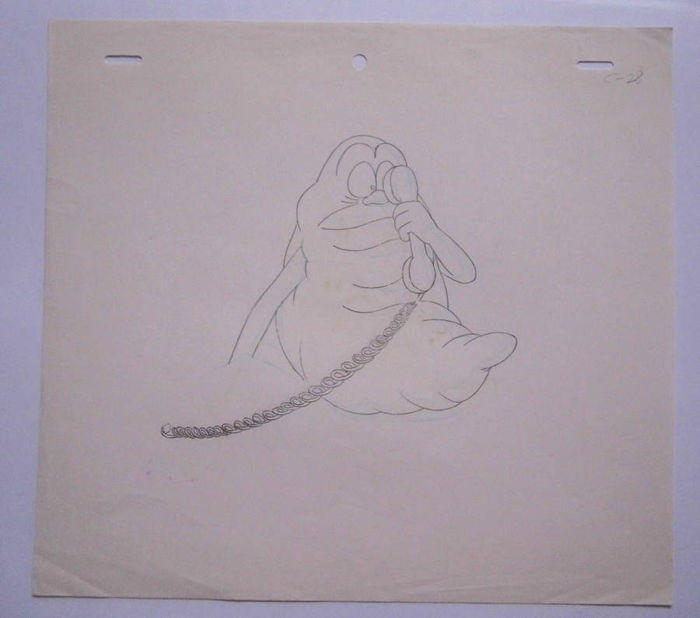 The Real Ghostbusters - animation drawing SLIMER - - - (1986/1991)
