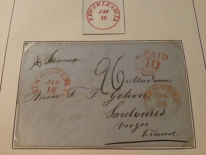 North America - Rare letter New Orleans 1815