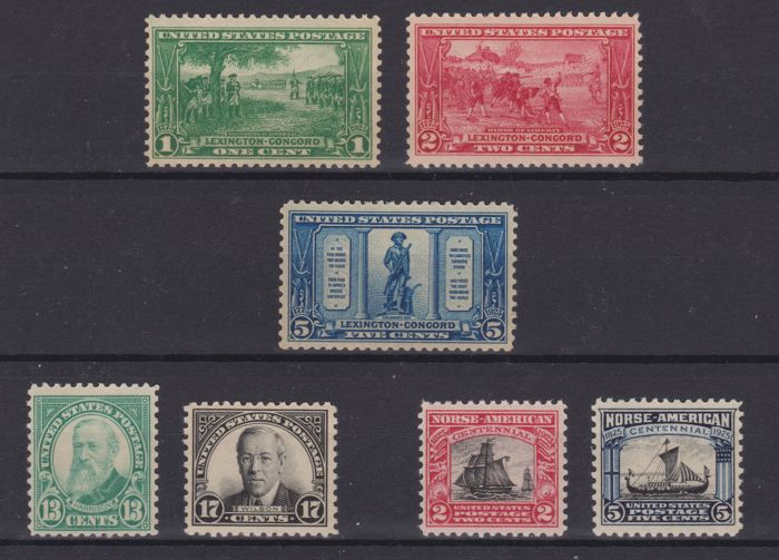 United States of America 1925 - Complete year of ordinary mail - Unificato 427/433
