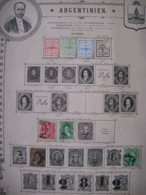 Argentina - Argentina stamps from 1858-1891!