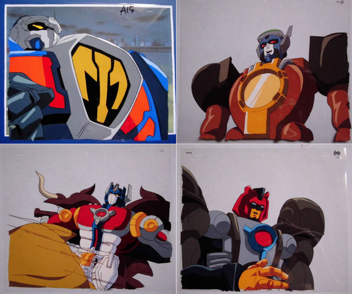 Transformers: Beast Wars - animation celluloid x4 + drawings  - - - (1984)