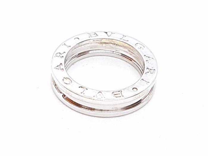 BVLGARI - Ring - 18 kt white gold - Size 50 EU