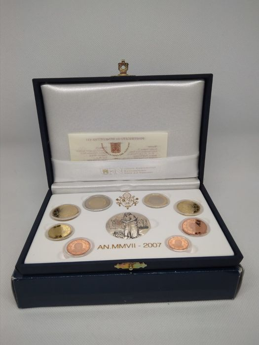 Vatican - Divisionale Euro 2007 Serie Divisionale Proof with 1 silver medal