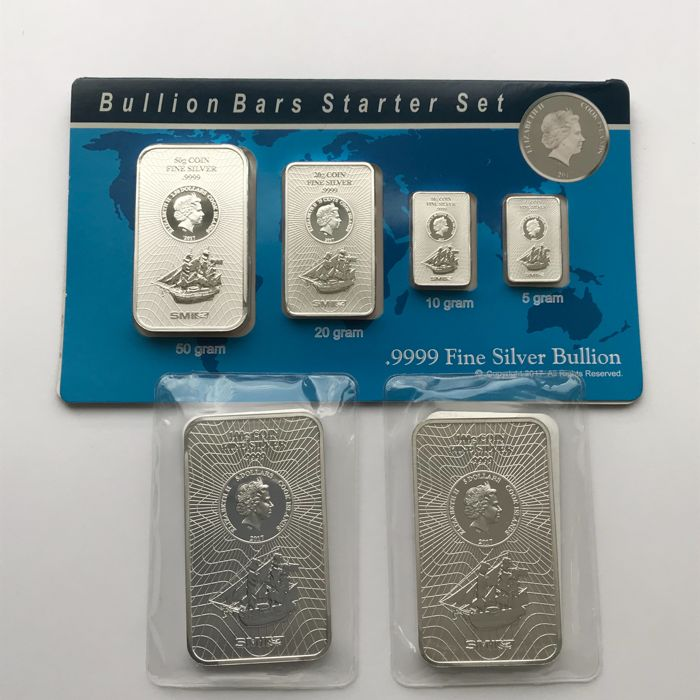 SMI - 85 grams and 2 x 100 grams - silver 999.9 - Minted - sealed