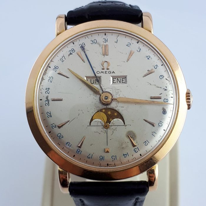 Omega - Cosmic Triple Date Moonphase 18k Gold - Men - 1901-1949