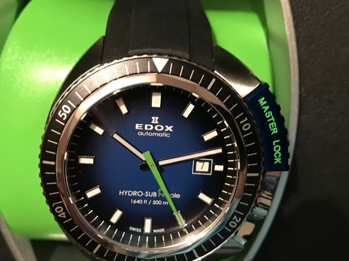 Edox - Hydro-sub north pole 500M 50th anniversary - 80301-3NBU-NBU-060033 - 男士 - 2015
