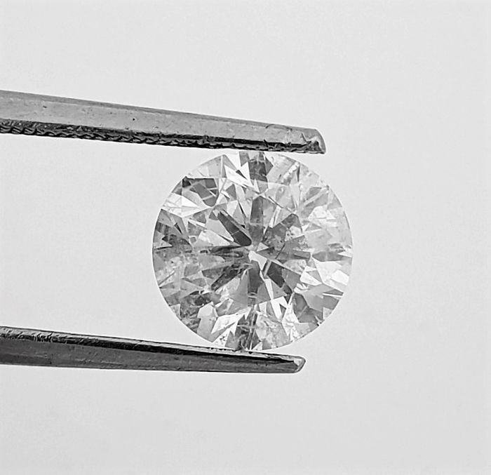 1.76 carat - D color - SI1 clarity - 3 x EX - Round Brilliant Cut  - Comes With AIG Certificate + Laser Inscription On Girdle