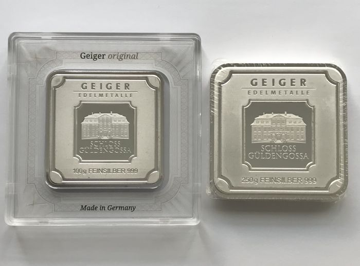 Geiger - 100 g and 250 g – 999.9 Silver - Minted - Sealed