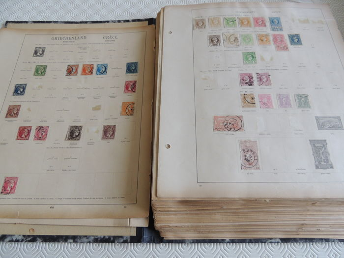 Europe 1850/1940 - Old collection on pages