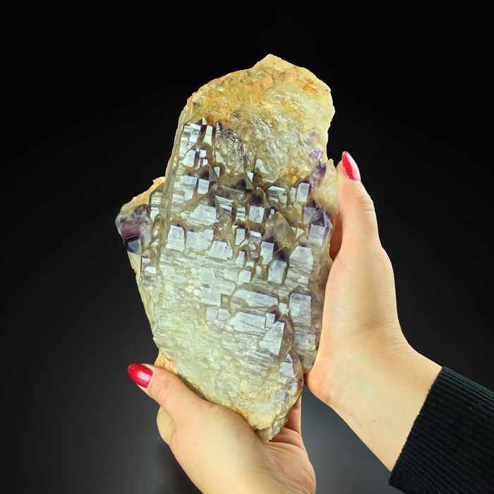 Amethyst (purple variety of quartz) Elastial - 24 x 16 x 6.0 cm - 2927 g