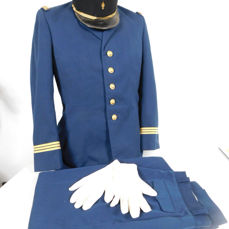 uniform of Captain of gendarmerie and military navy France end of the 20th century