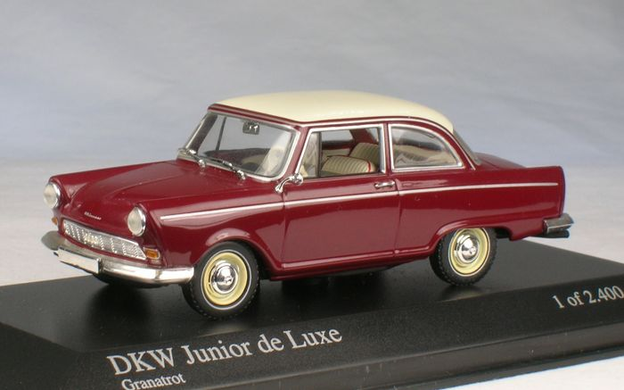 minichamps 1 43 dkw junior de luxe bouwjaar 1961. Black Bedroom Furniture Sets. Home Design Ideas