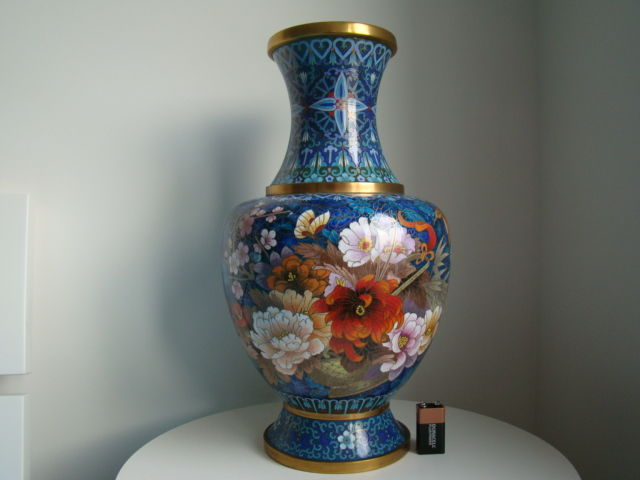 Chinese cloisonné vase - China - second half of the 20th century