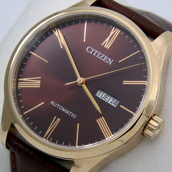 """Citizen - Automatic """"Gold-Brown"""" - New -""""NO RESERVE PRICE"""" - Hombre - 2017"""