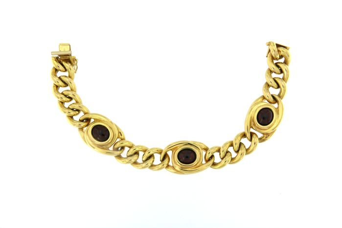 18 kt (750/1000) yellow gold bracelet, 27.6 g - Made in Italy - Length 20.5 cm
