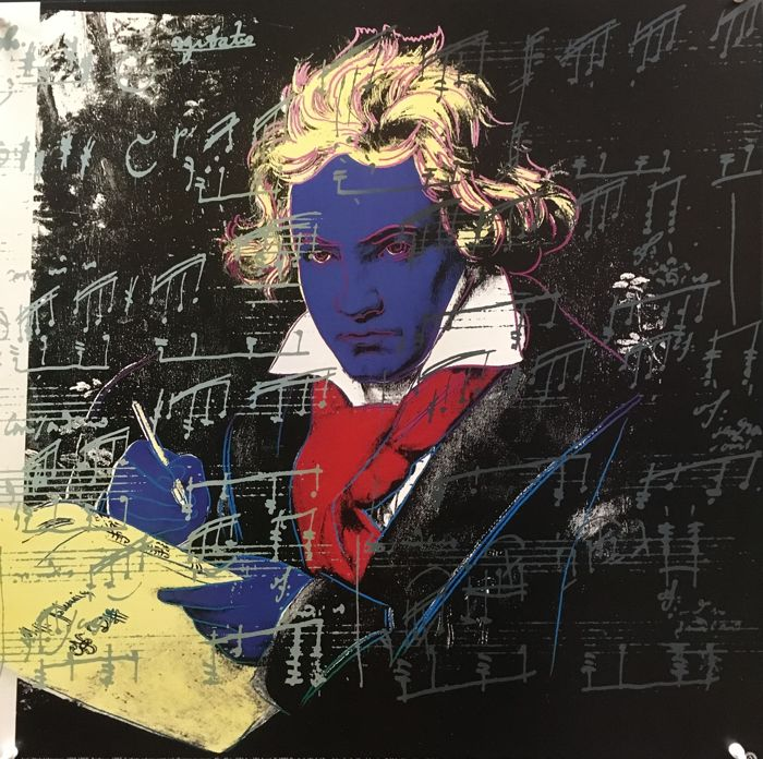 "Andy Warhol - Beethoven ""Blue"" 1987 - 1992"