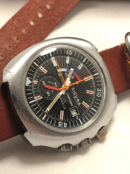 "Sicura - Chronograph - ""NO RESERVE PRICE"" - Men - 1970-1979"