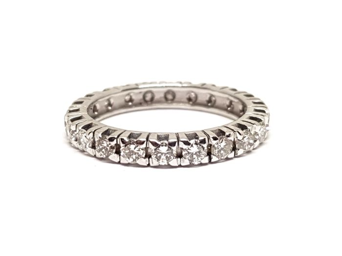 18 karaat Witgoud - Ring - 1.20 ct Diamant - Diamant