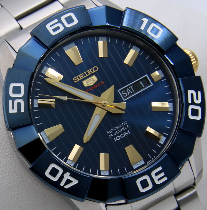 "Seiko - - Automatic 24 Jewels ""Blue-Gold Dial"" - - Hombre - 2011 - actualidad"
