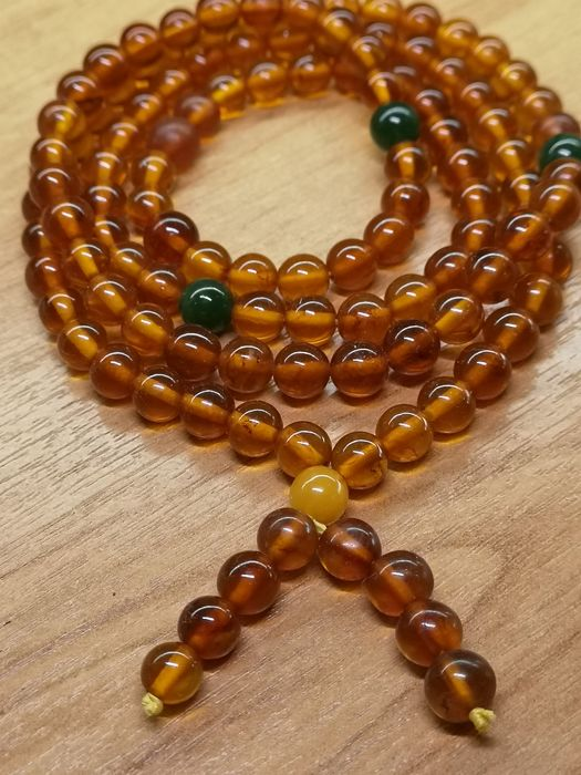 Natural Baltic Amber, 108 beads.