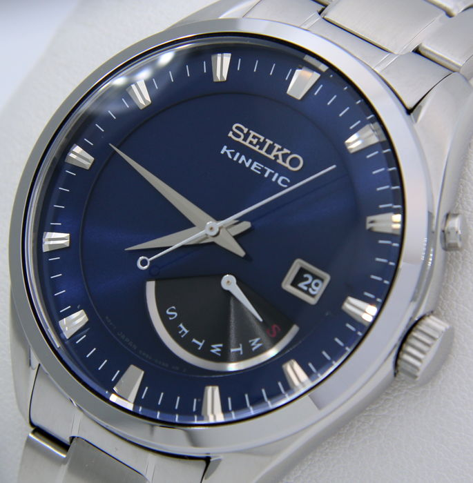 "Seiko - Kinetic Day/Date 100M ""Blue Dial"" - Hombre - 2018"