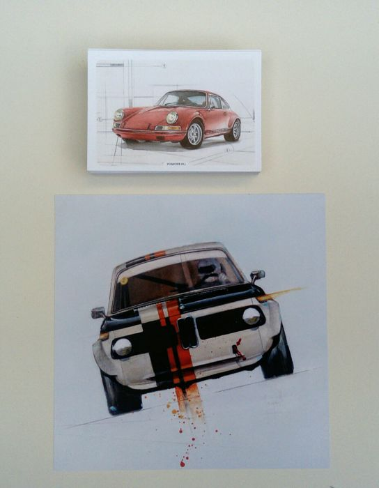 Postcards and digital Print - Illustrations automobiles  - 2015 (101 items)