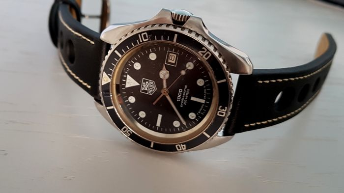Heuer - 1000 Series Diver  thick case very rare  -  980.006l - Men - 1980-1989