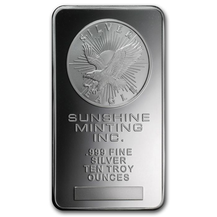 311 Gramm - Plata .999 - USA Sunshine Minting Eagle Silberbarren - Sello