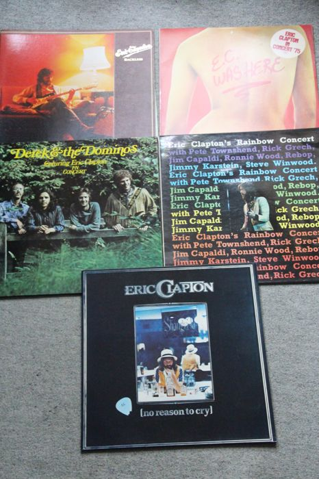 Eric Clapton 6 albums: Backless, No reason to cry, EC was here, Rainbow Concert, Derek & the Dominos in concert(2 LP), 461 Ocean Boulevard