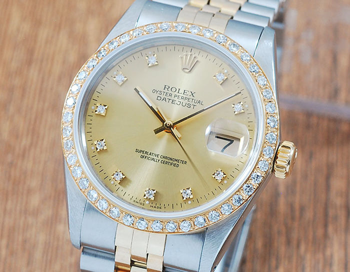 Rolex -  Oyster Perpetual DateJust  - 16013 - Herre - 1980-1989