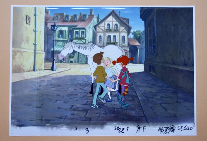 Pippi Langstrumpf - Animation Cel + Copy Background - Loose page - Pee Longstocking - (1998/1997)