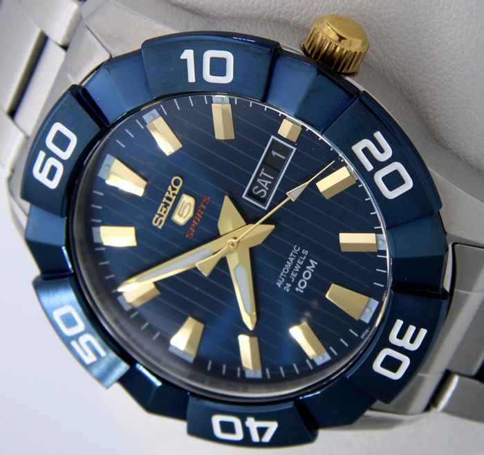 "Seiko - Automatic 24 Jewels ""Blue-Gold"" - - ""NO RESERVE PRICE"" - - Hombre - 2011 - actualidad"